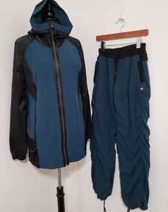 Lululemon Run Right Round Jacket Pants Set Sz 10